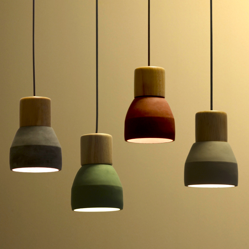 Cement wood small Pendant Lights bedroom bedside Restaurant Bar Cafe entrance Nordic Japanese simple creative personality SN9 entrance hall creative tiffany the restaurant in front of the hotel pendant lights cafe bar small aisle pendant lamps za