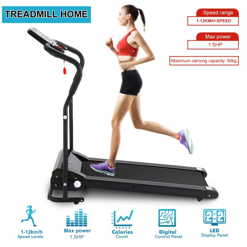 Multifunction Electric Treadmill Slimming Fat Burning Exercise Equipment Wide Run Belt Folding Treadmill Home Gym For Training