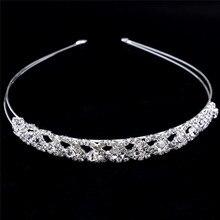 Concurso de las mujeres coronas nupciales Wedding Tiaras tocado Rhinestone novia diadema