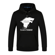Stefan janoski Game Of Thrones Hoodies Winter Is Coming House Stark Wolf Print 3D Jacket Men Warm Sweatshirts Hip Hop Streetwear