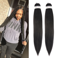 Toyotress Ombre Braiding Hair Kanekalon Pre stretched Synthetic Hair Weave Extensions 16 30inch Pure Color Yaki Straight Hair