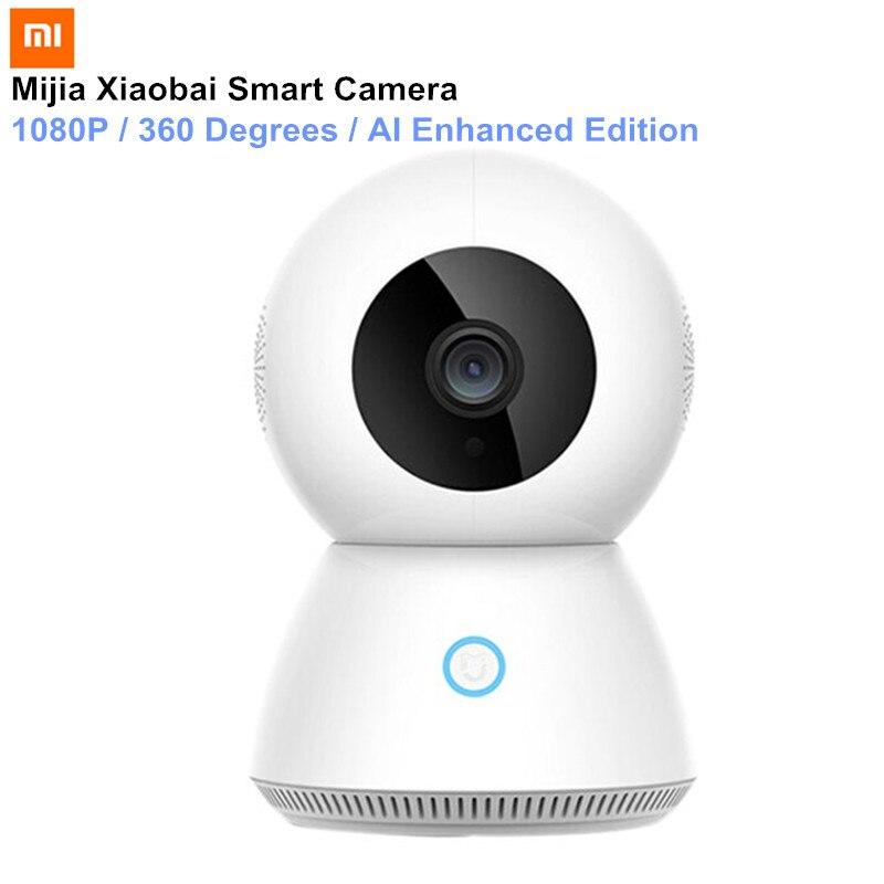 цена 2018 Xiaomi Mijia Xiaobai Smart Camera Enhanced Edition AI control 1080p Smart Web IP Camera 360 Degrees Night Vision MJSXJ03CM