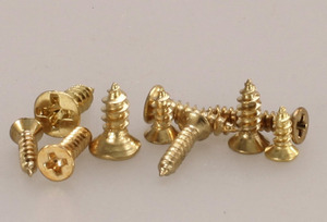 Image 3 - new 500 Piece Brass Plated Wood Screw Assortment self tapping screws teeth mouth fast Muhe small metal screws