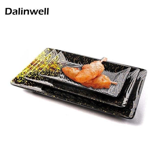NEW Japanese Melamine Light Black Square Sushi Dinner Plate Durable Restaurant Hotel Plastic Slate Flat Steak  sc 1 st  AliExpress.com & NEW Japanese Melamine Light Black Square Sushi Dinner Plate Durable ...