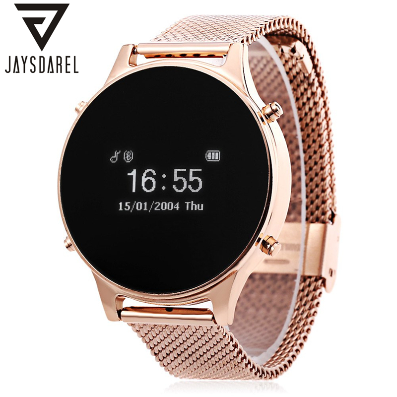 JAYSDAREL MT360 Smart Watch Camera Music Remote Call Reminder Pedometer Bluetooth Smart Wristwatch for Android iOS oled bluetooth v3 0 smart touch bracelet watch w music player call answering pedometer black