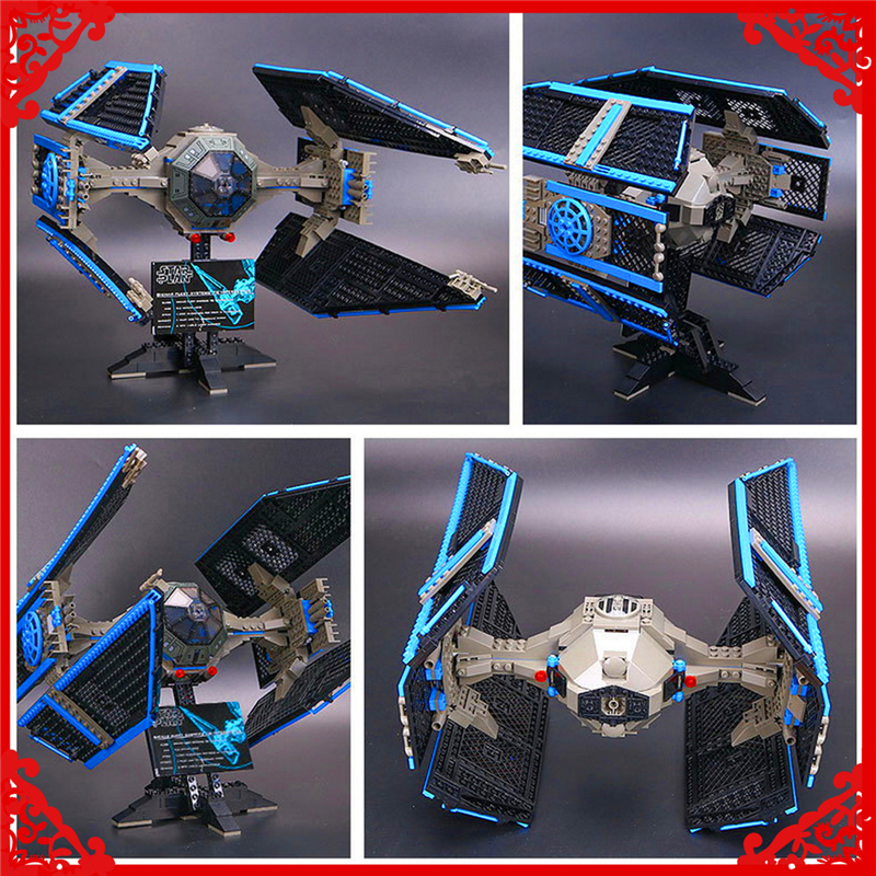 LEPIN 05044 Star Wars Limited Edition TIE Interceptor Building Block 703Pcs Educational  Toys For Children Compatible Legoe new mf8 eitan s star icosaix radiolarian puzzle magic cube black and primary limited edition very challenging welcome to buy