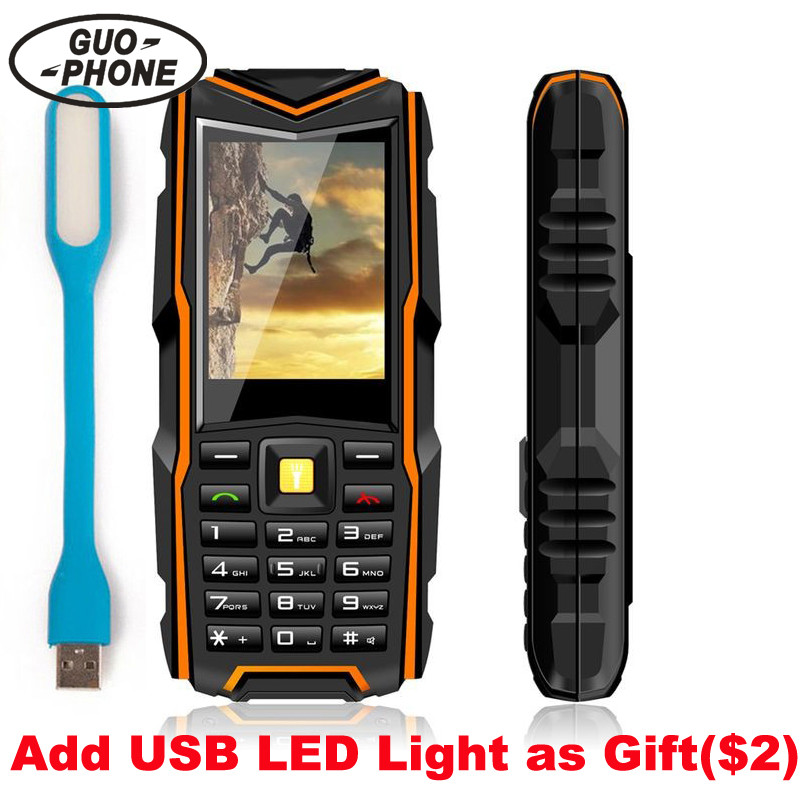 GuoPhone V3 Phone <font><b>IP67</b></font> Waterproof Shockproof Dustproof Mobile Phone Power Bank Long Standby Outdoor Army 5200mAh