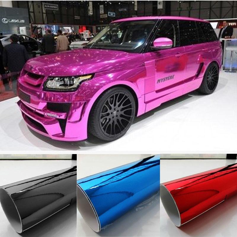 152 50CM Mirror Chrome Electroplate Vinyl Car Wrapping Foil Decal Fiber Car motorcycle Decoration Membrane Sticker