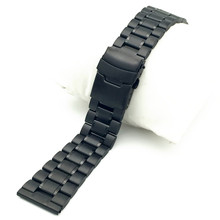 Solid 316L Stainless Steel Watchbands Silver 18mm 20mm22mm 24mm Metal Watch Band Strap Wrist Watches Bracelet все цены