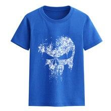 Children's clothing summer 2017 short sleeve T-shirts for boys o-neck SKULL pattern streetwear hip hop T-shirt for girl tops tee