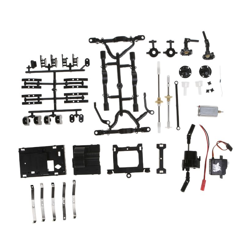 WPL B14 1 16 4WD 2 4G RC Rock Car Crawler Military Truck Buggy Off Road Vehicles DIY Assembly in Parts Accessories from Toys Hobbies