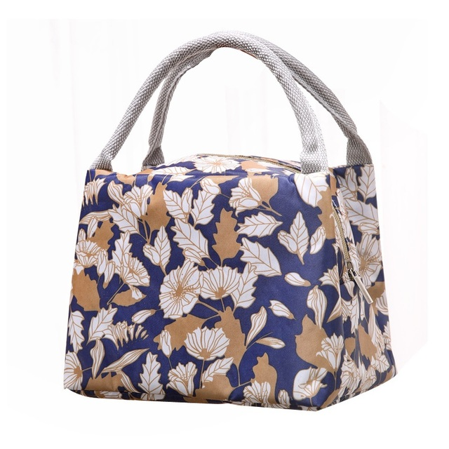 Stylish Canvas Thermal Hot Cool Lunch Box Bag Best Insulated Bags For Women Tote