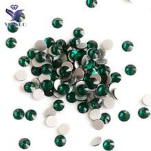 2028NoHF Emerald Color Stones All Sizes SS3,4,5,6,8,10,12,16,20,30,34 Non Hotfix Glue on Flatback Rhinestones