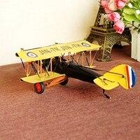 Handmade Rocznika Wojny Światowej I Modeli Dwupłatowiec Samoloty Kreatywne Dekoracje Modele Bombowiec