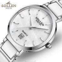 Kobiet Zegarka Watches Women S Bracelet Watches Exquisite Ultra Thin Ceramic Girl Watch 3ATM Waterproof Date