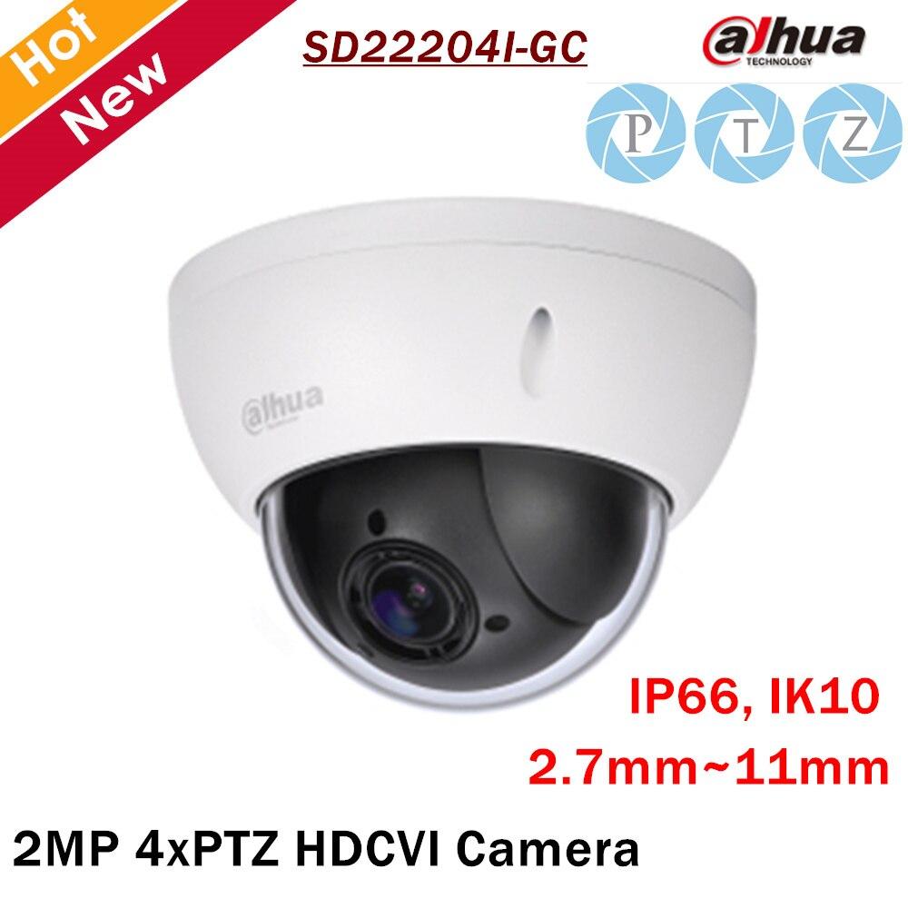 Dahua PTZ Camera SD22204I-GC 2MP 1/2.7 cmos 4x PTZ HDCVI Camera 2.7mm-11mm Focal Length for Outdoor ip camera security cam dahua security ip camera outdoor camera