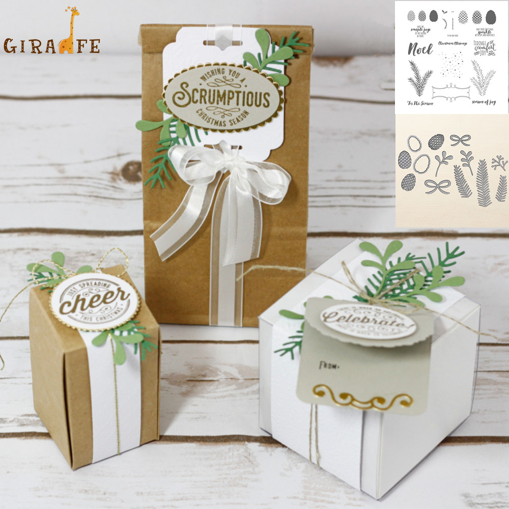 Christmas Pines Metal Cutting Dies And Stamps Leaves For Scrapbooking Embossing Decorative Crafts DIY Paper Cards New 2019