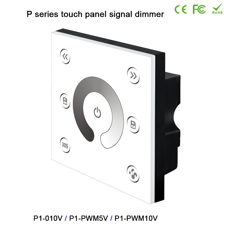 цена на BC Wall-mounted led Controller 0/1-10VAnalog/PWM5V/PWM10V Signal*2CH led touch panel signal dimmer for DC12V-24V led strip light