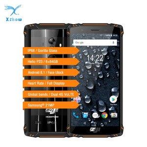 Image 1 - HOMTOM ZOJI Z9 6GB 64GB IP68 5500mAh Waterproof Mobile Phone Heart Rate Android 8.1 5.7inch Face ID Fingerprint 4G Smartphone