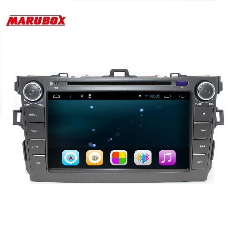 Marubox M8A105R16 Quad Core Android 6.0.1 Car DVD Player for Toyota Corolla 2006-2011 2 Din 1024*600 Car Radio GPS Video