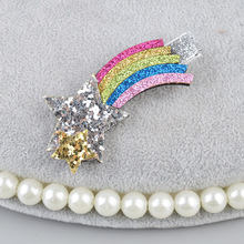 Girls' Glittering Unicorn and Star Hair Clip