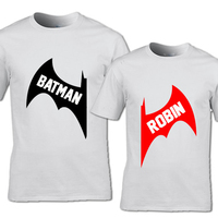 EnjoytheSpirit BATMAN ROBIN T Shirt Set Of T Shirts Matching Couple Tee His And Hers Besties