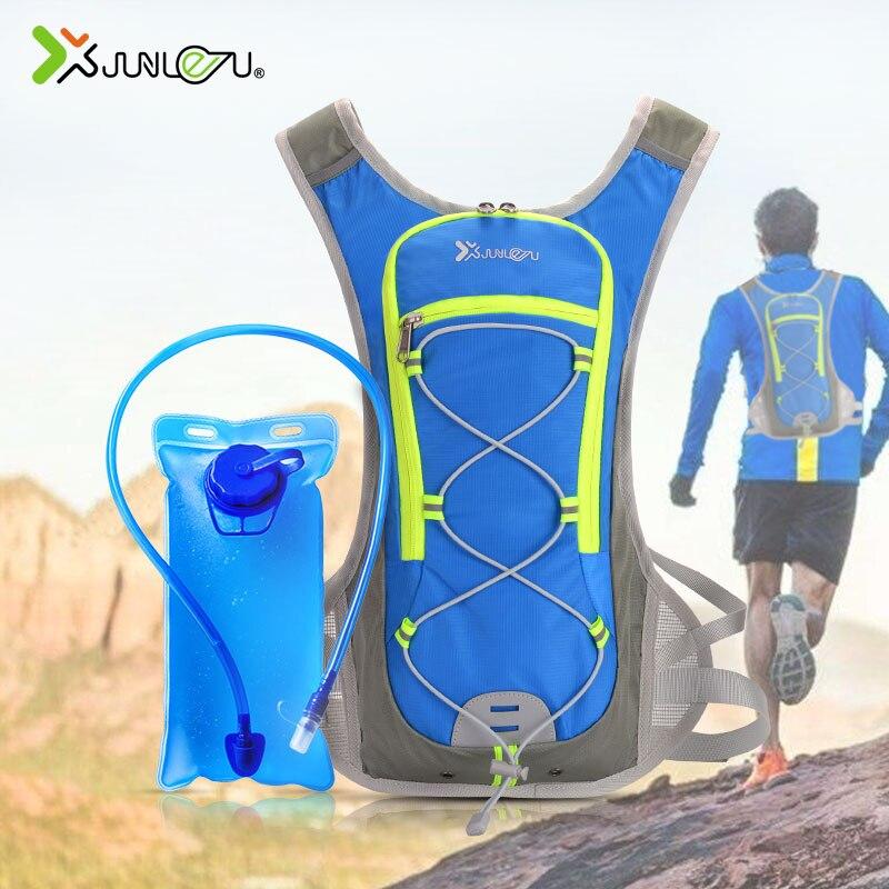 eec44f92ab25 8L нейлон для женщин жилет бег рюкзак спортивные велосипедный, с поильником  марафон Trail мужчин сумка