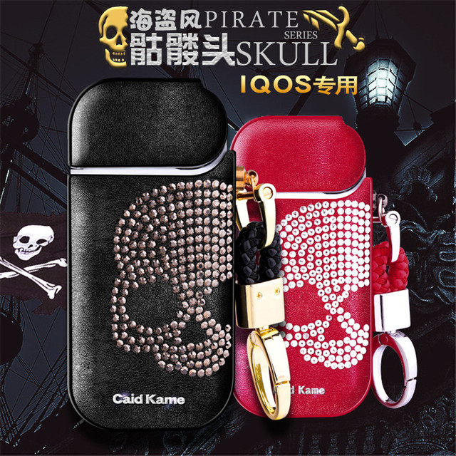 US $45 0 |IQOS E cigarette special protective sleeve iqos Skull Leather  Case Marlboro 2 4 plus Universal For 1/2/3 generations-in Electronic  Cigarette