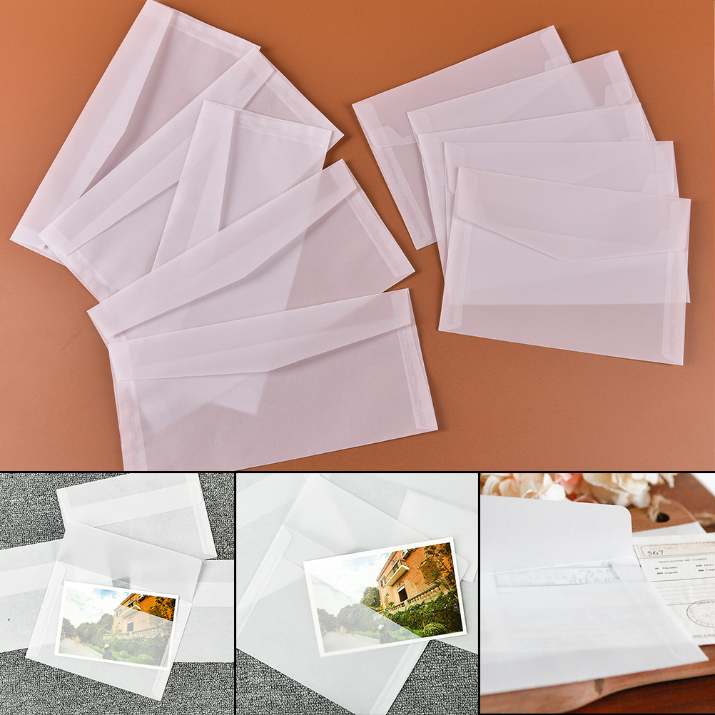 Collection Here Peerless Hot Selling 5pcs/pack Translucent Envelope Message Card Letter Storage Paper Gift Stationary Office & School Supplies