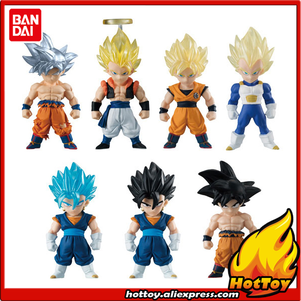 100% Original BANDAI ADVERGE Special Toy Figure - Full Set of 7 Pcs Son Goku Vegeta Gogeta Vegetto from