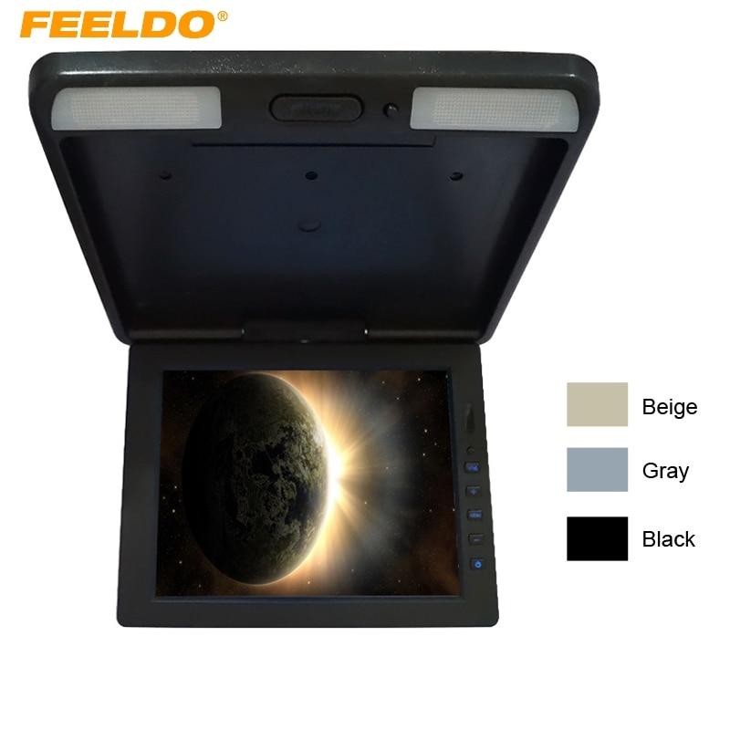 FEELDO 11.3 moniteur LCD TFT monté sur le toit entrée vidéo 2 voies rabattable moniteur voiture/Bus/camion # HQ1284