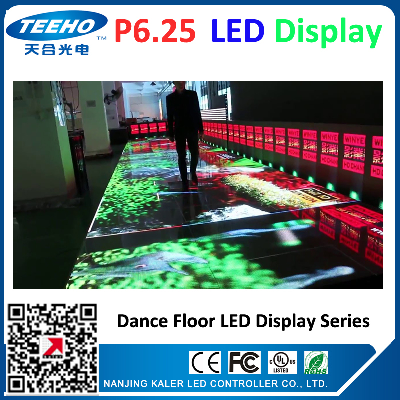 P6.25 led dancing floor display videowall panel dance LED screens led advertising boards stage concert wedding meeting