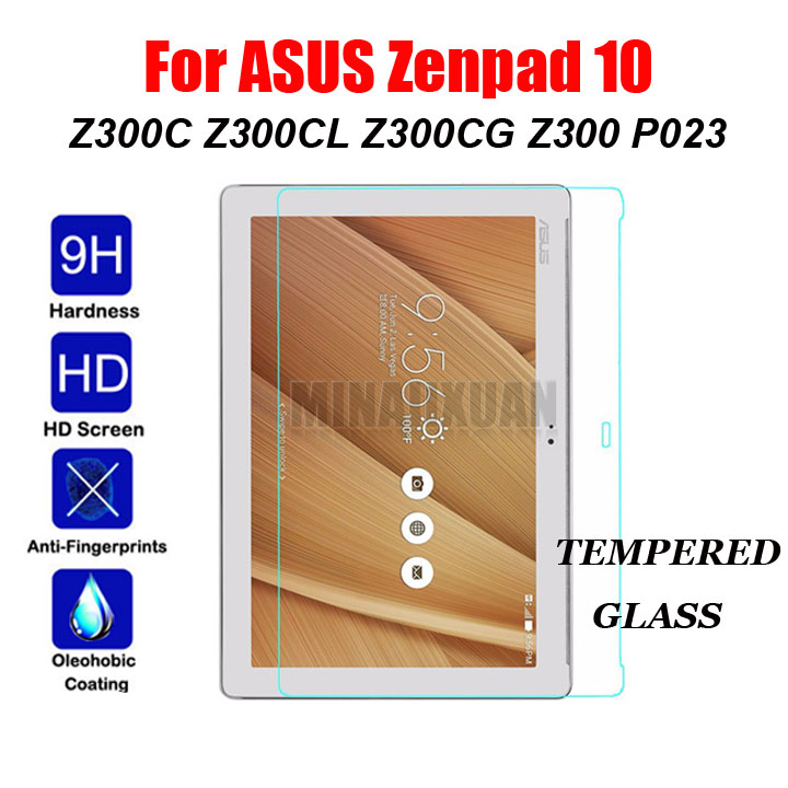 9H Tempered Glass Film For ASUS ZenPad 10 Z300 Z300C Z300CL Z300M Z300CG P023 P021 P00C Tablet Screen Protector Protective Film for asus zenpad 10 z300 z300c z300cg z300m p00c display panel lcd combo touch screen glass sensor replacement parts
