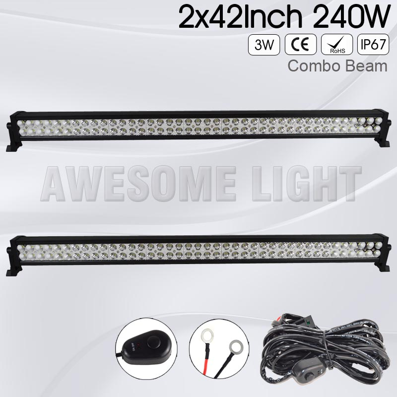 DE.SOUL 2 PACK 40inch 42inch 240w Double Rows straight IP67 waterproof Combo Beam 4x4 car LED light bar offroad car light 4 inch 6 inch straight cup diamond grinding wheel for glass edger straight line double edging beveling machine m009