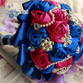Customized Silk Rose crystal Rhinestone wedding Bridal hand bouquet  mariage ramos de novia buque de noiva wedding accessories