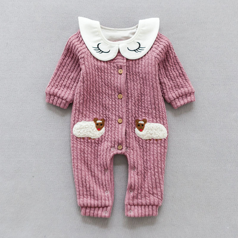 YiErYing милые комбинезоны одежда для новорожденных с длинными рукавами Летний хлопковый модный детский комбинезон с рисунком овечки