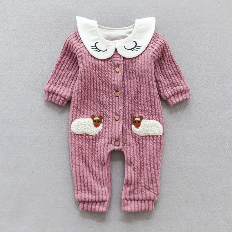 YiErYing Newborn Cute Jumpsuits Clothes Long Sleeve Summer Cotton Fashion Cartoon Sheep Baby Romper