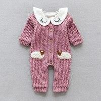 YiErYing Pasgeboren Leuke Jumpsuits Kleding Lange Mouw Zomer Katoen Mode Cartoon Schapen Baby Romper