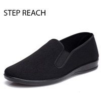 Unisex Black Chinese Cotton Made Shoes For Martial Art Kung Fu Wushu Tai Chi Slipper Bruce