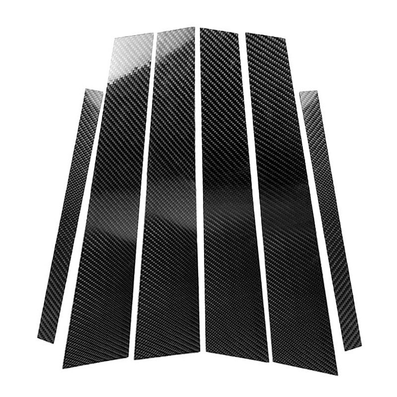 Carbon Fiber Car Window B-Pillars Molding Trim Car Styling Stickers For Bmw 3 Series