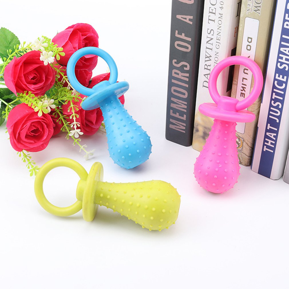 Toys Pet Chewing Toy Teat Nipple Shape Teething Train Cleaning Poodles Puppy