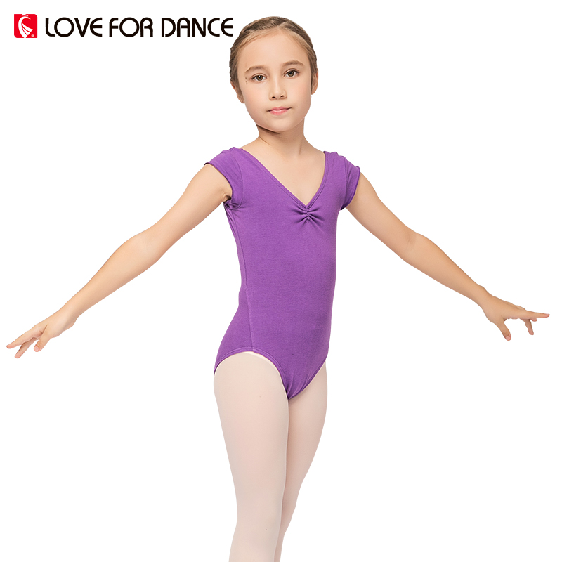 LOVE FOR DANCE 2017 Summer Girls Ballet Dancing Leotard Gymnastics Lycra Short Sleeve Hollow Out Chidren Kids Ballet Leotard 35#