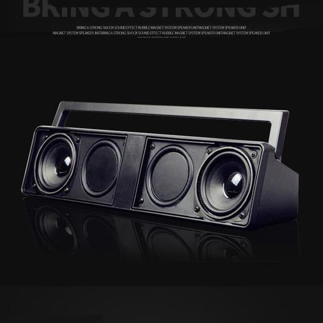 Бумбокс усилитель с функцией Bluetooth, FM радио, проигрывание mp3 с USB и карт памяти, HiFi сабвуфер, подключение к ПК и ТВ встроенный аккумулятор