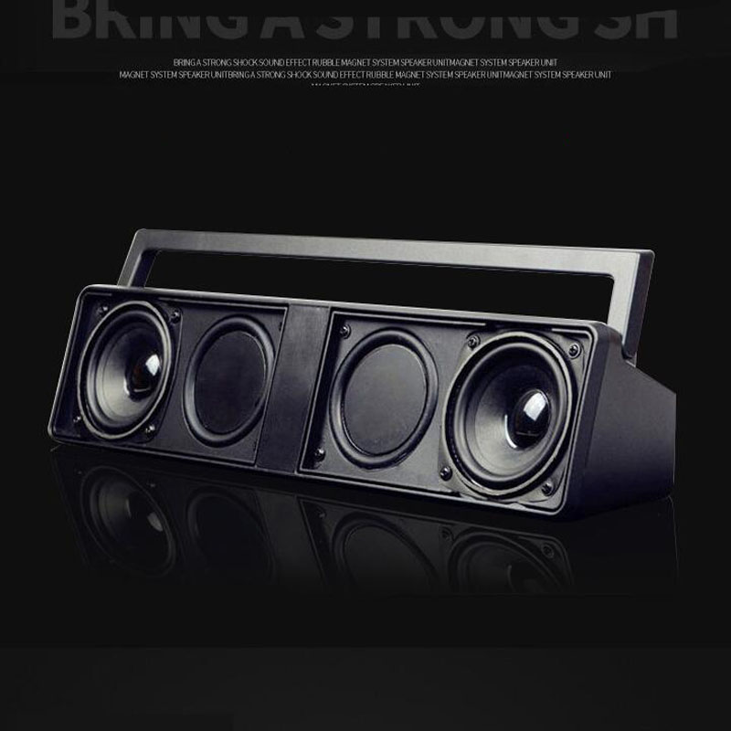 Boombox Amplifiers Bluetooth FM Radio MP3 Play USB TF Card Slots HiFi Subwoofer Computer Speaker TV Soundbar Li-ion Power Bank dbigness bluetooth speaker soundbar magnetic stereo sound subwoofer tf card speaker bluetooth boombox for computer tablet tv