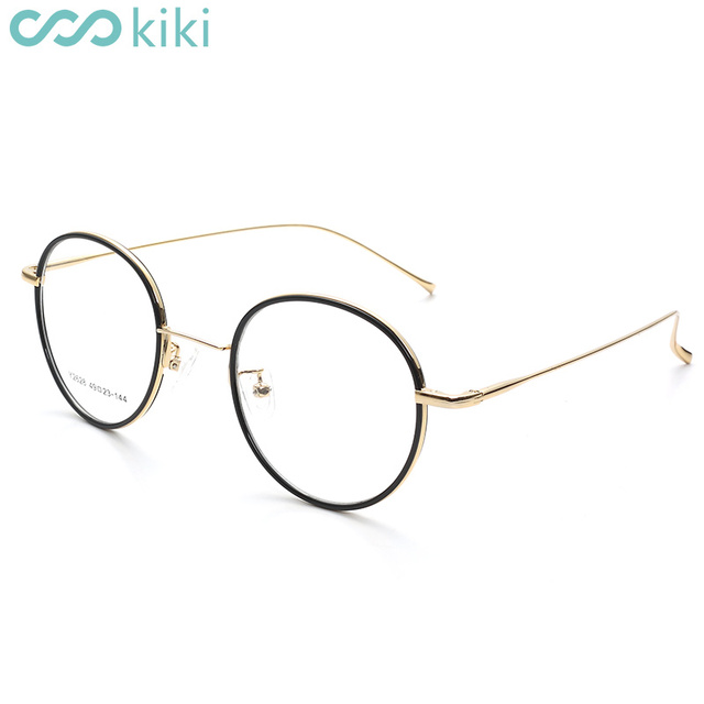 54192199b5 KIKI 2018 NEW Prescription Glasses Frame Round Copper Eyeglasses Women Men  Spectacle Frame Anti Blue Ray Myopia Glasses 1.56