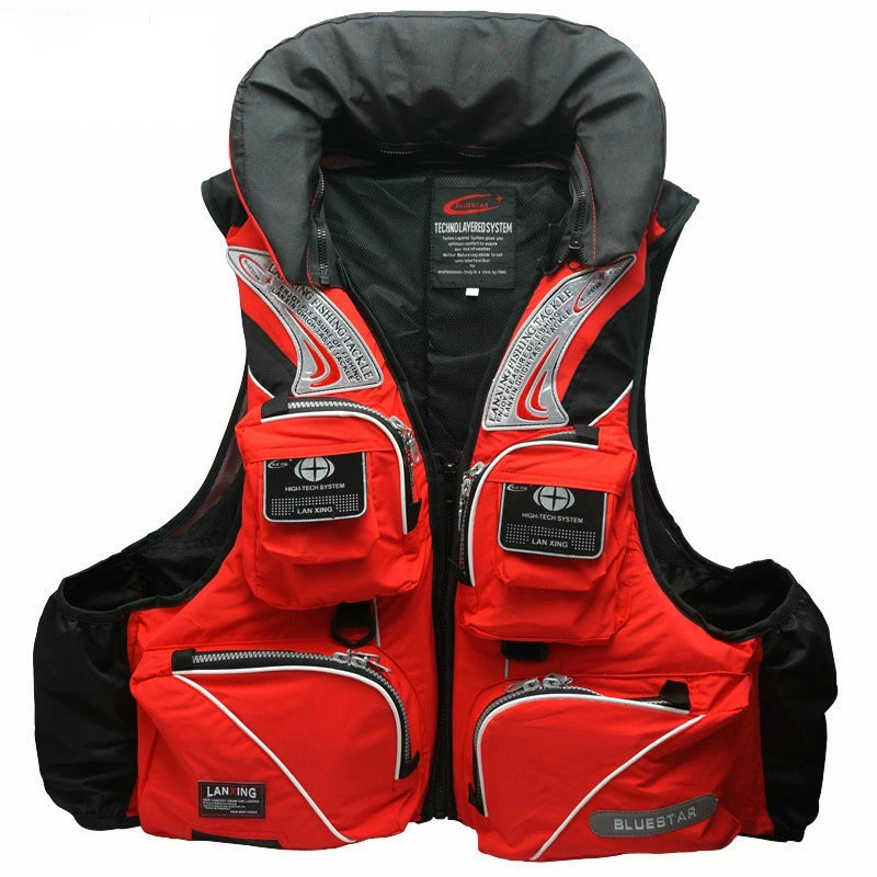 цена Good Quality Famous Brand Professional Life Vest Multi-pocket Floating Vest 2018 New High Quality Fishing Vest