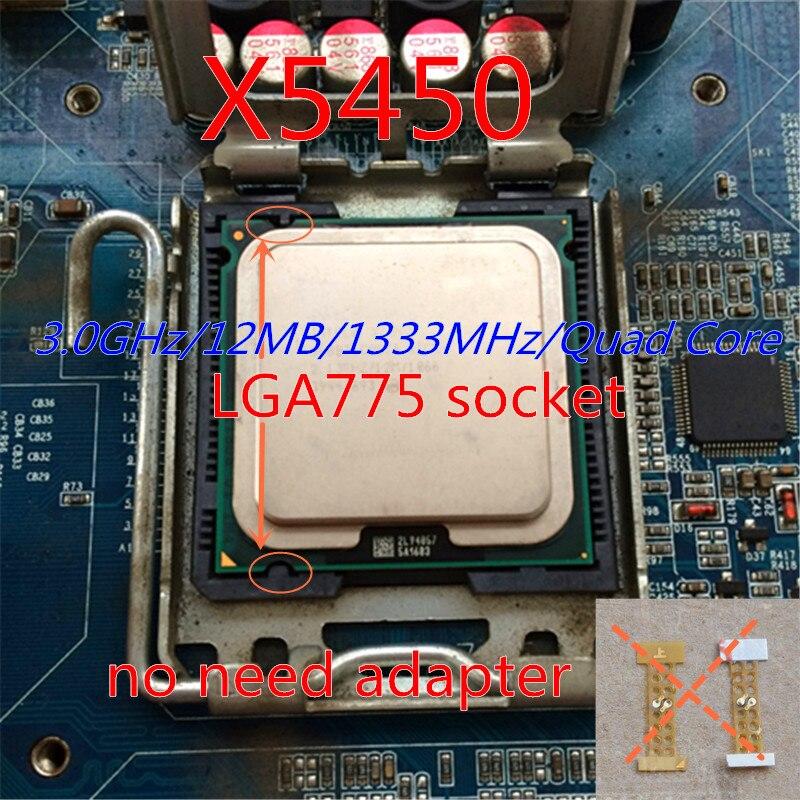Работы некоторые 775 разъем x5450 Процессор для Xeon x5450 4 ядра сервера Процессор процессор/3.0 г/lga771-775/12 МБ L2 Кэш/