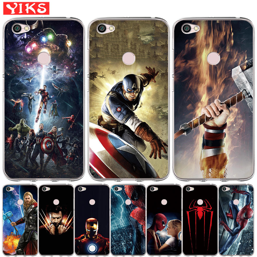 Luxury <font><b>Marvel</b></font> Heros Soft Silicone Phone <font><b>Case</b></font> For <font><b>Xiaomi</b></font> <font><b>Redmi</b></font> 3S <font><b>Note</b></font> 3 <font><b>4</b></font> 4X 5A 5 6 Plus Pro Prime <font><b>Case</b></font> Avengers Cover Hoesjes image