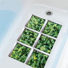 6pcs/lot Underwater World 3D Seaweed New Bath Sticker Creative Waterproof Wearable Removable Wall