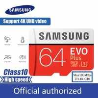 Carte Micro SD Samsung 32GB 64GB 128GB 256GB SDHC SDXC carte microsd max100M/s carte mémoire Class10 U3 4K Flash TF carte